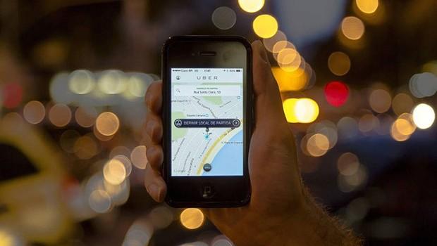 Aplicativo Uber (Foto: Leo Martins/Agência O Globo)