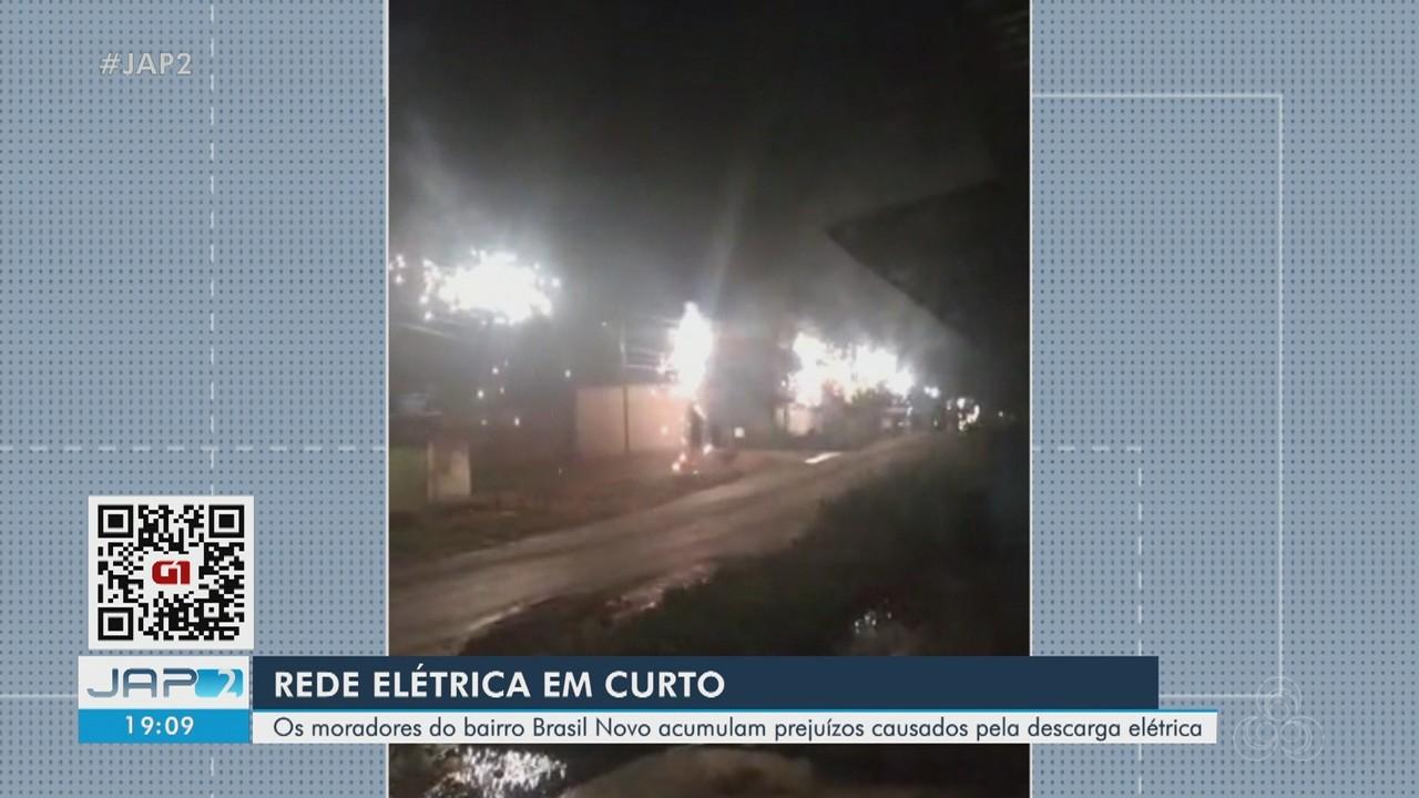 Curto-circuito em rede de energia causa série de explosões na Zona Norte de Macapá