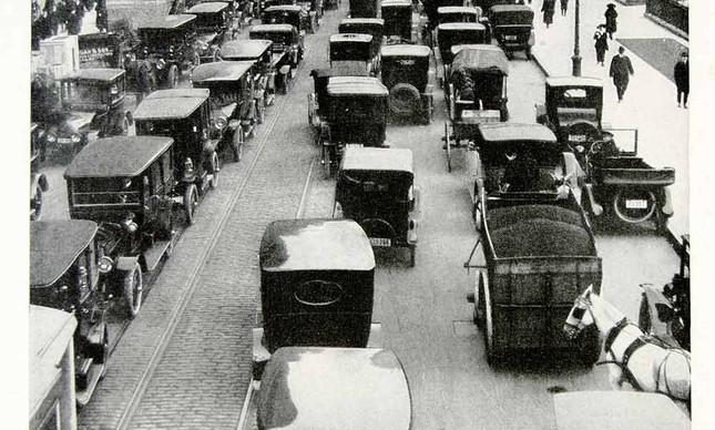 Engarrafamento em Nova York e 1918