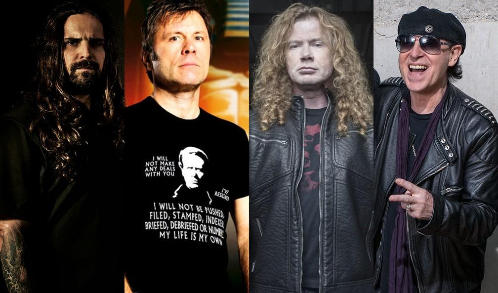 Sepultura, Iron Maiden, Megadeth e Scorpions estão na programação do dia do metal do Rock in Rio — Foto: Divulgação