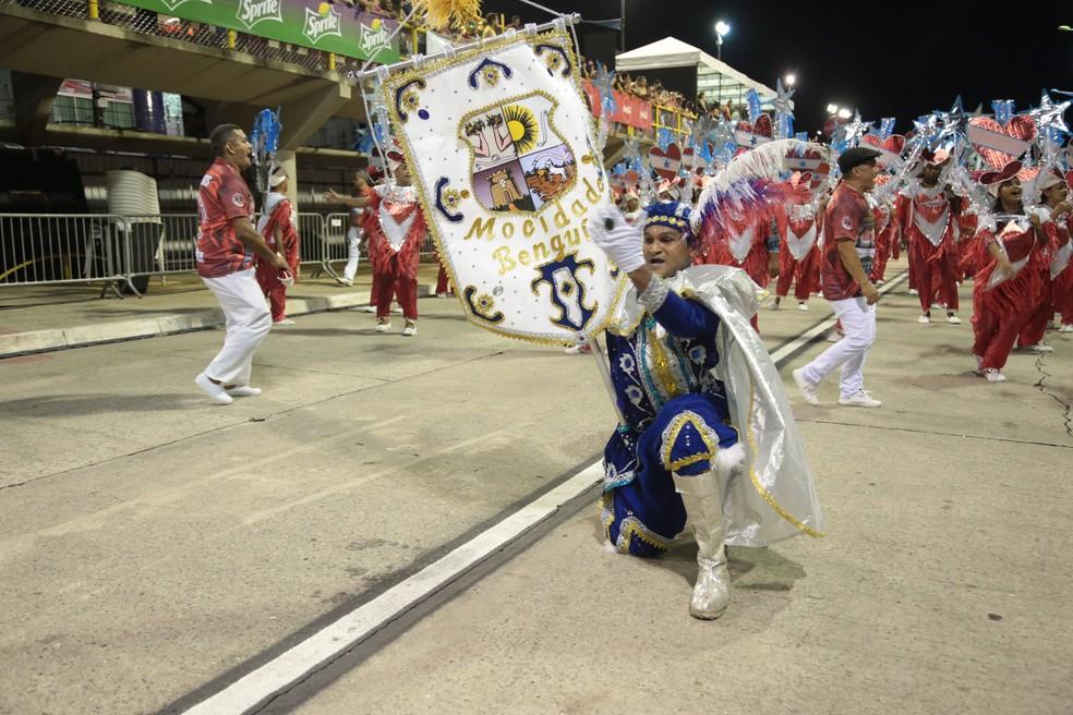 Mocidade Unidos do Benguí Carnaval de Belém 2020 — Foto: Alessandra Serrão/Comus
