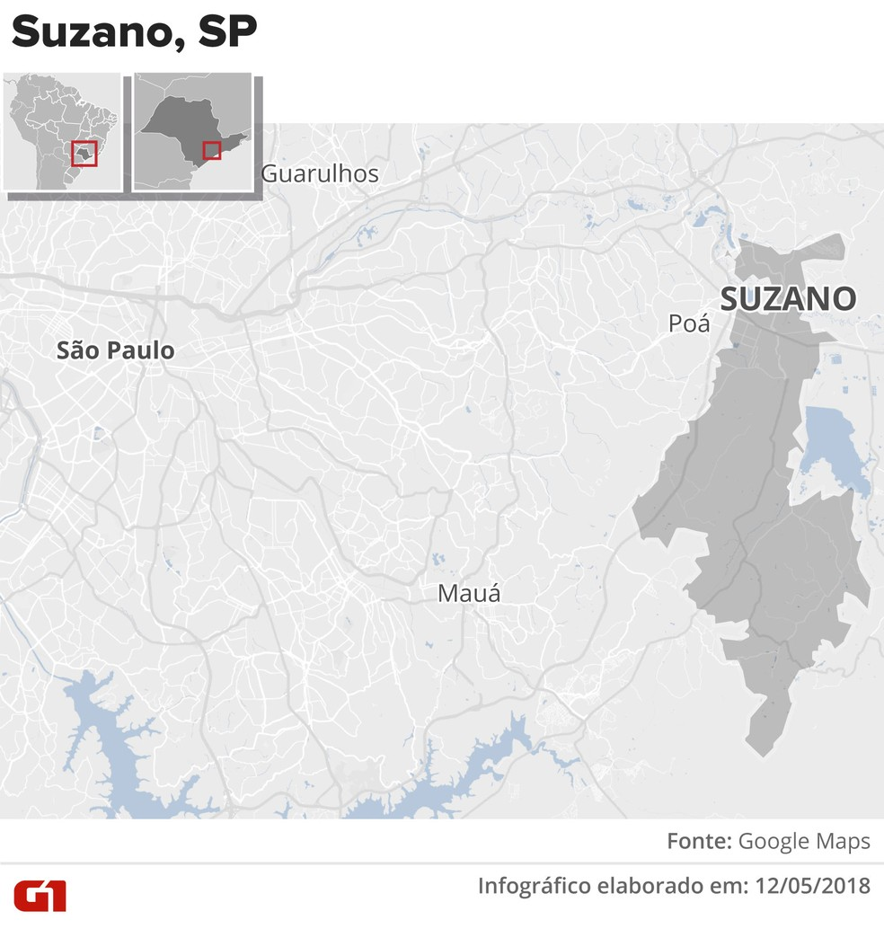 Município de Suzano fica na Região Metropolitana de São Paulo (Foto: Alexandre Mauro/G1)