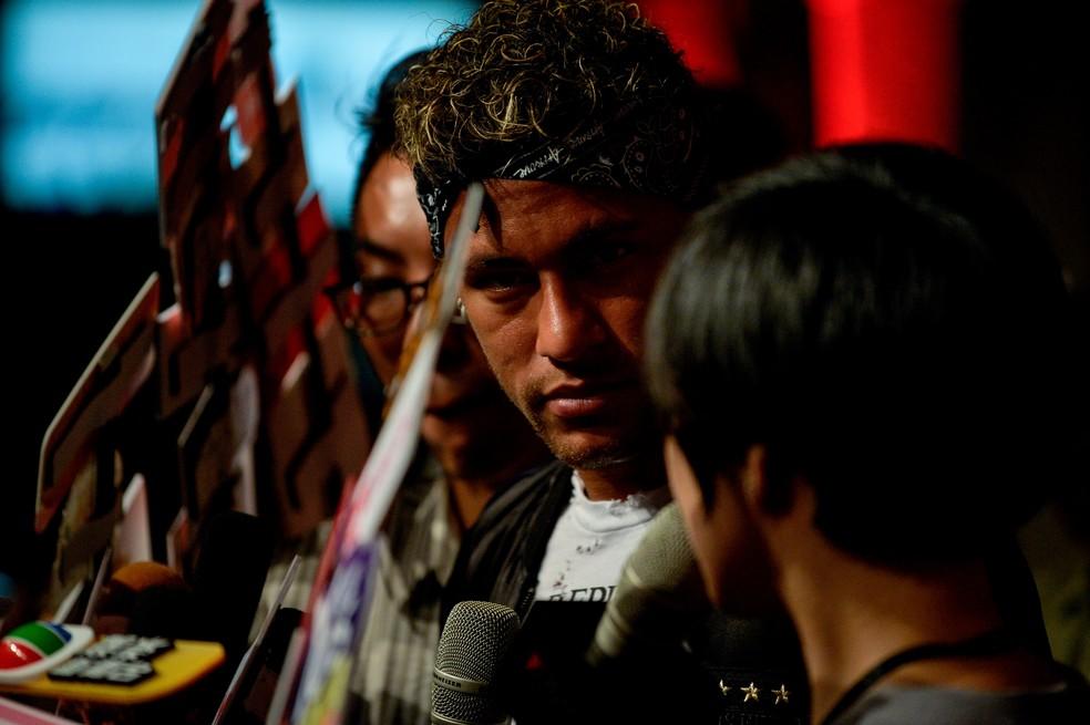 Neymar está na China em evento com marca de roupas: fechado com o PSG? (Foto: Chandan Khanna/AFP)