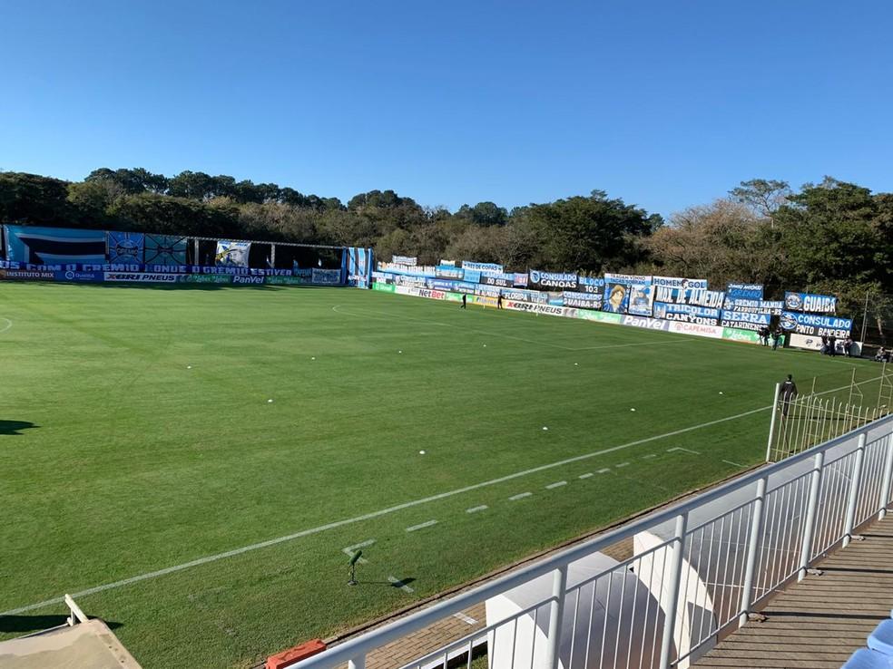 Time sub-23 do Grêmio usa CT da base um dia após jogo do Gauchão — Foto: Divulgação
