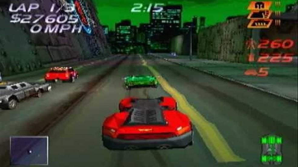 Carmageddon no PlayStation One não deu muito certo devido a alguns problemas técnicos (Foto: Reprodução/YouTube)