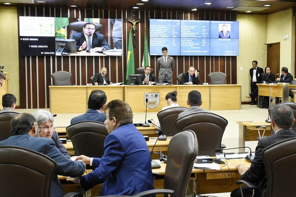 Projeto de lei foi aprovado no mesmo dia em que a ALRN reconheceu calamidade financeira no estado — Foto: João Gilberto/Divulgação/ALRN