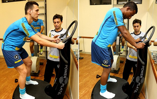 montagem Alex Elias treino Botafogo (Foto: Divulgação / AGIF)