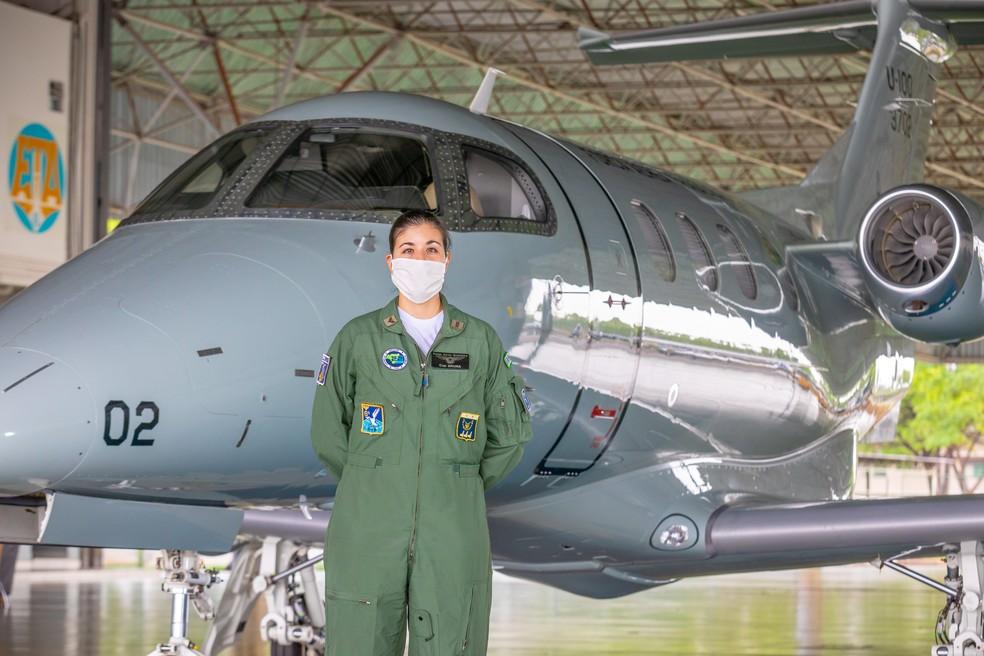 capitão aviadora Bruna Nascentes Teles, de 32 anos, da FAB — Foto: Wilhan Campos/FAB