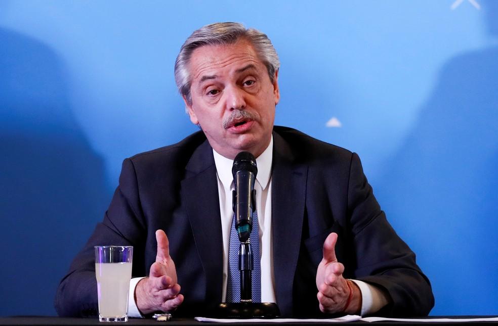 Alberto Fernández assume nesta terça — Foto: Reuters/Agustin Marcarian