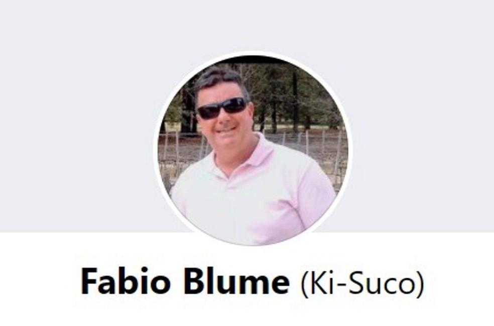 Fabio Blume leva o apelido Ki-Suco até hoje — Foto: Reprodução