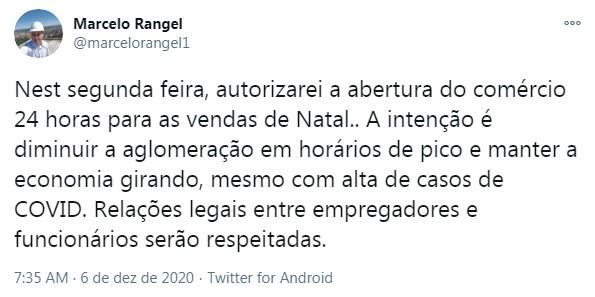 Coronavírus: Novo decreto permitirá funcionamento 24 h do comércio em Ponta Grossa a partir de segunda (7), diz prefeito