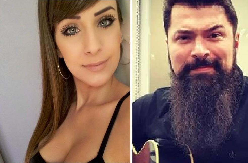 A modelo Priscila Delgado de Barrios morreu e o delegado Paulo Bilynskyj foi baleado em São Bernardo do Campo — Foto: Reprodução/Arquivo pessoal