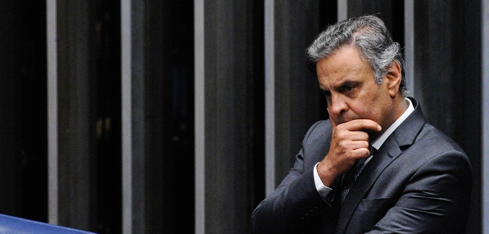 O senador Aécio Neves (PSDB-MG) — Foto: Marcos Oliveira/Agência Senado/Arquivo