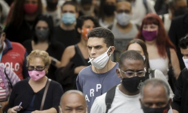 Movimento na Praça XV, no Rio de Janeiro