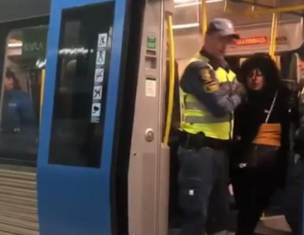 Mulher negra, grávida, é expulsa à força de metrô na Suécia (Foto: Reprodução Instagram)