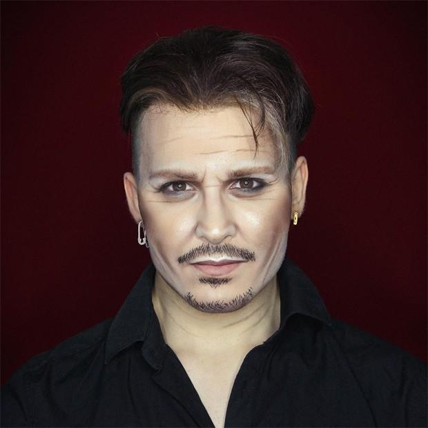 Alexis Stone como Johnny Depp (Foto: Reprodução/Instagram)