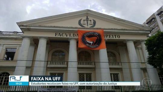 TRE autoriza recolocação de faixa na faculdade de direito da UFF