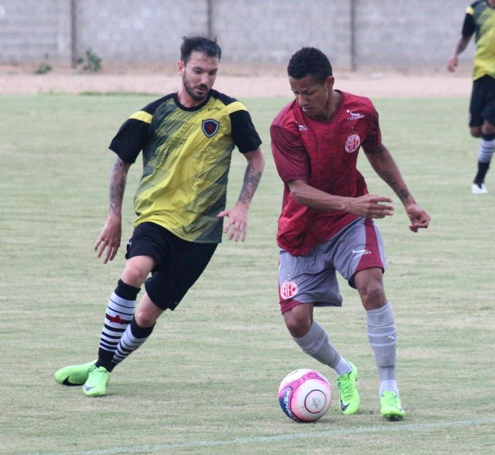 América-RN e Botafogo-PB se enfrentaram na última semana, com vitória do Belo por 2 a 1 — Foto: Canindé Pereira/América FC