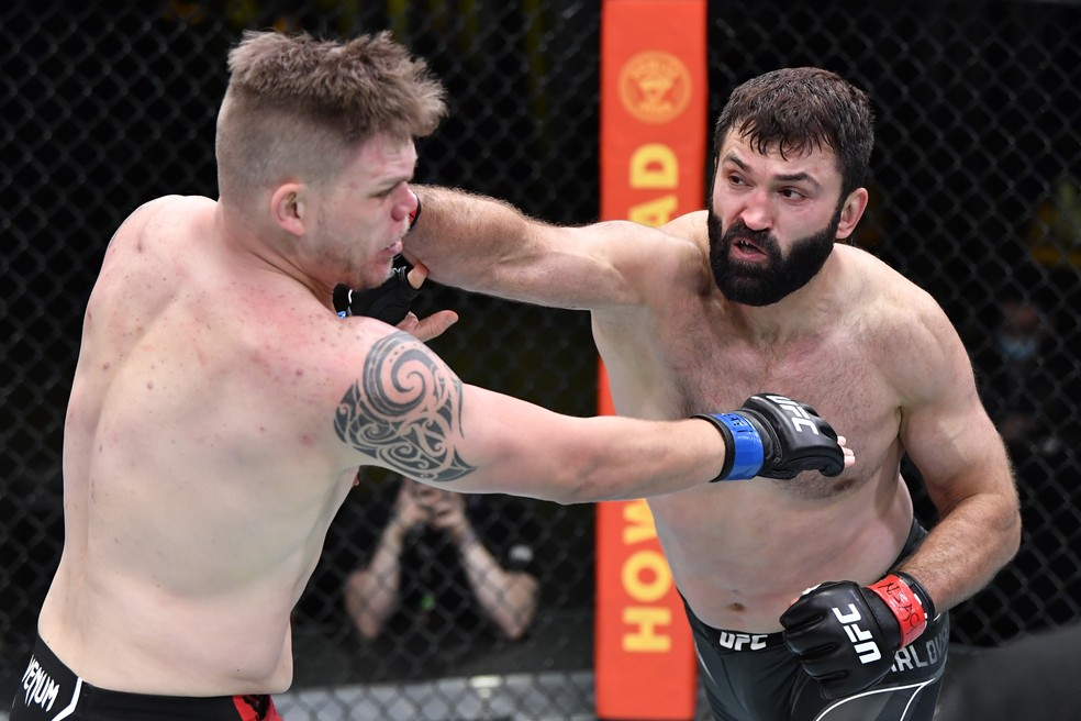 Andrei Arlovski controlou Chase Sherman no UFC Whittaker x Gastelum — Foto: Getty Images