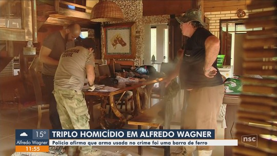 Arma usada em triplo homicídio de família em Alfredo Wagner foi comprada no dia do crime, diz polícia