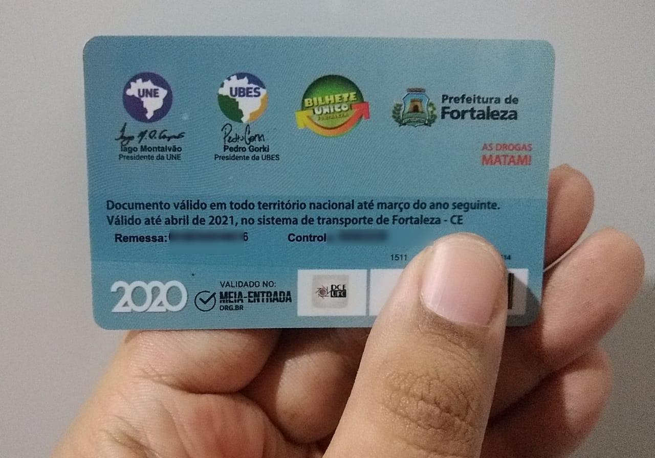 Validade de carteiras de estudante em Fortaleza é prorrogada até 31 de julho