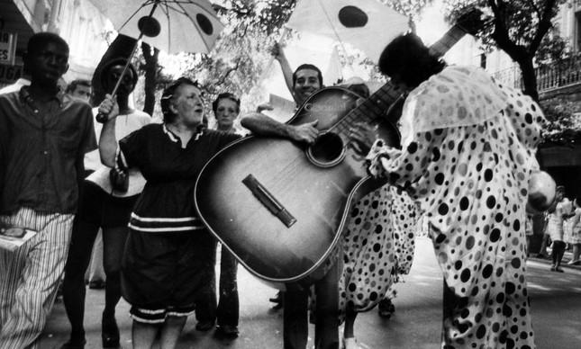 Alegria no Cordão do Bola Preta de 1974, no Centro
