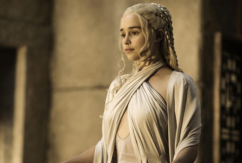 Emilia Clarke como Daenerys Targaryen na quinta temporada de 'Game of thrones' — Foto: Divulgação