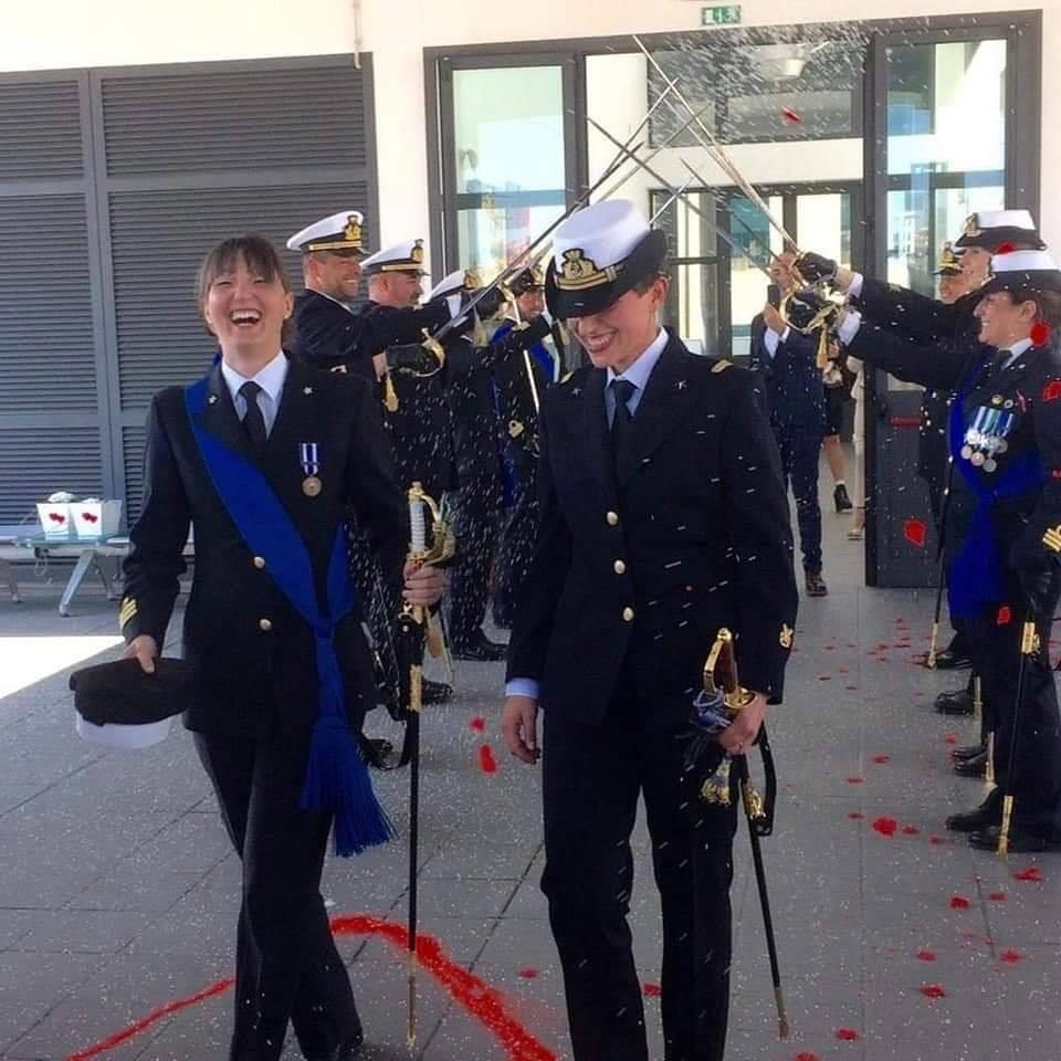 Itália realiza primeira união civil entre duas mulheres da Marinha  (Foto: Reprodução / Facebook)