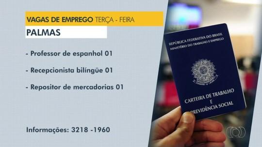 Veja as oportunidades de emprego disponíveis em oito cidades do Tocantins nesta terça-feira (16)