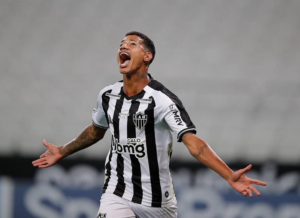 Marrony comemora gol pelo Atlético-MG — Foto: Pedro Souza