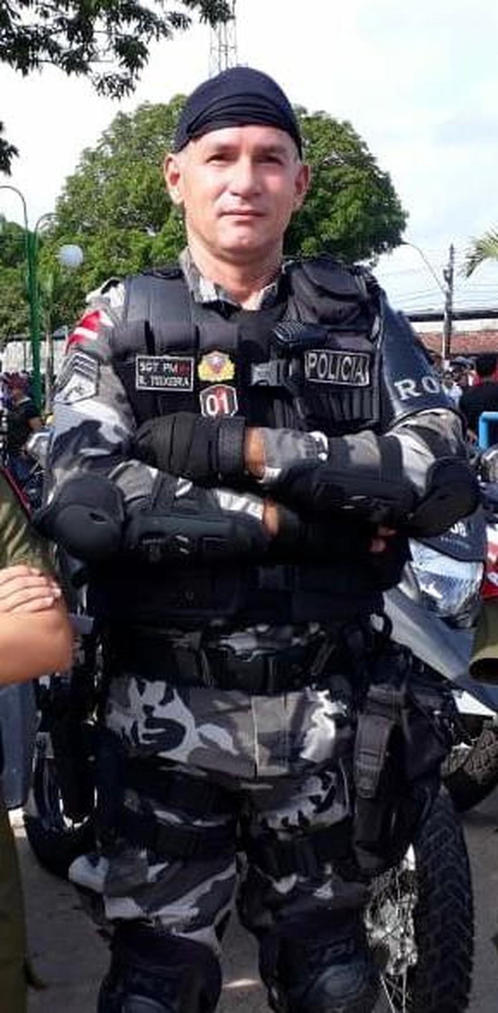 Sargento da PM é morto a tiros em Castanhal, no Pará. — Foto: Reprodução / PM