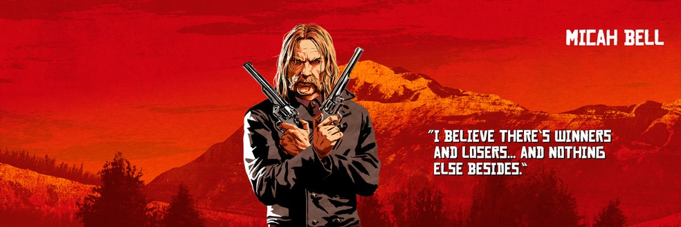 Micah Bell, de Red Dead Redemption 2 — Foto: Divulgação/Rockstar