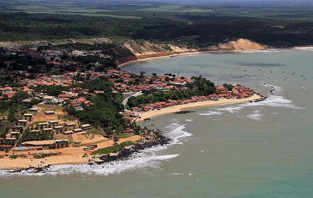 Baía Formosa, no litoral Sul potiguar — Foto: Canindé Soares