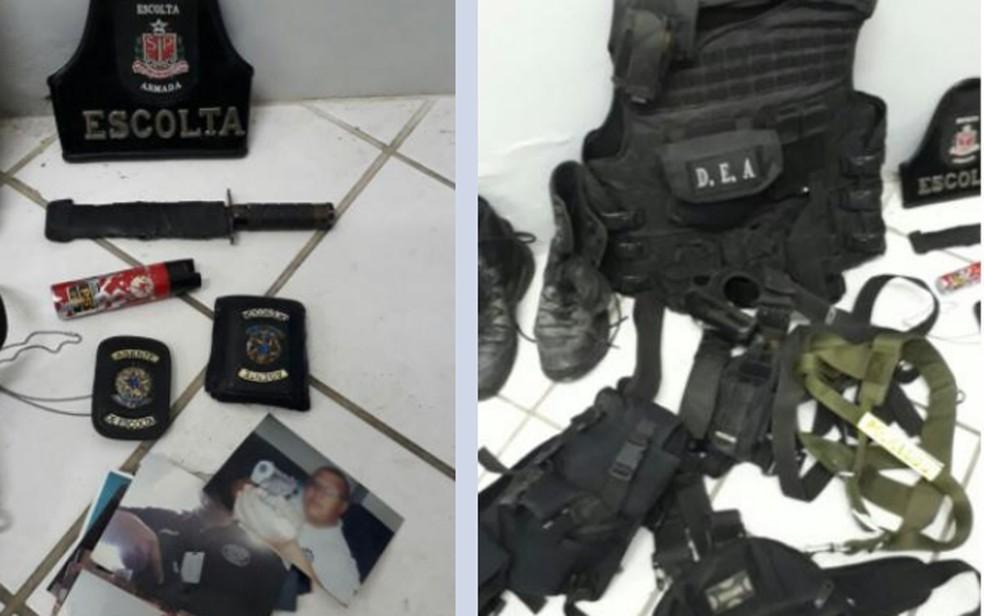 Material apreendido durante operação das polícias de Pernambuco contra milícias — Foto: Divulgação/Polícia Civil
