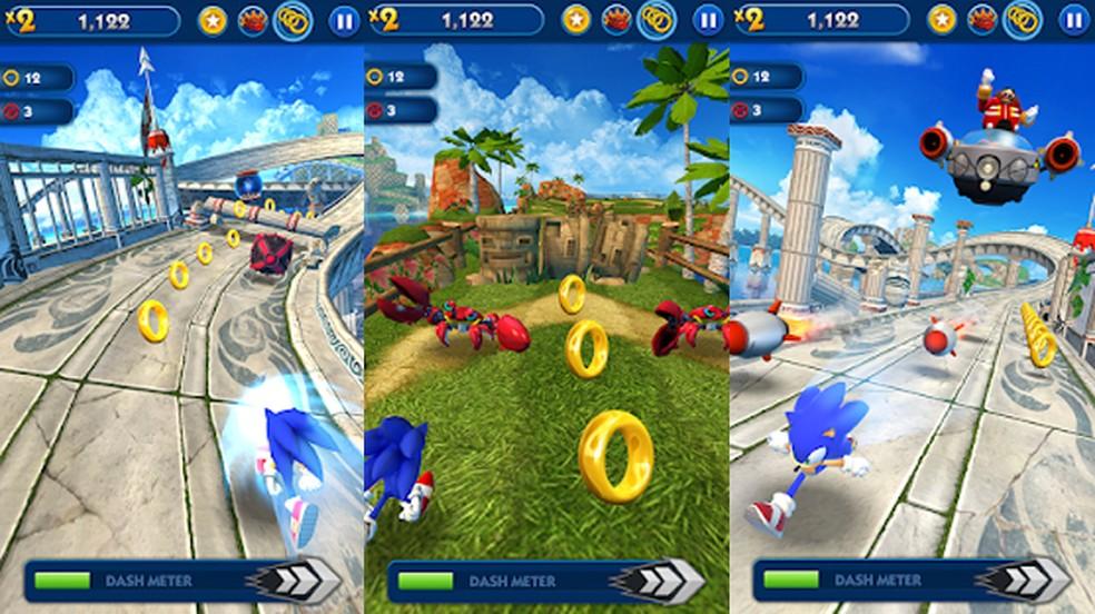 Sonic Dash é uma combinação perfeita de corrida infinita estilo Temple Run com o mascote da Sega — Foto: Reprodução/Google Play