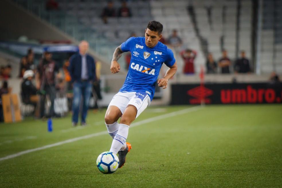 Lucas Romero é um dos intrusos na base de 2014 (Foto: Vinnicius Silva/Cruzeiro)