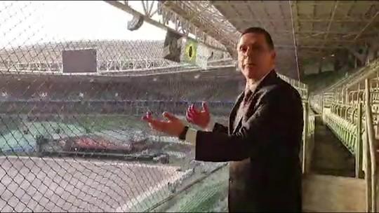 Após acordo com o Palmeiras, Procon visita arena para ver nova rede na torcida visitante