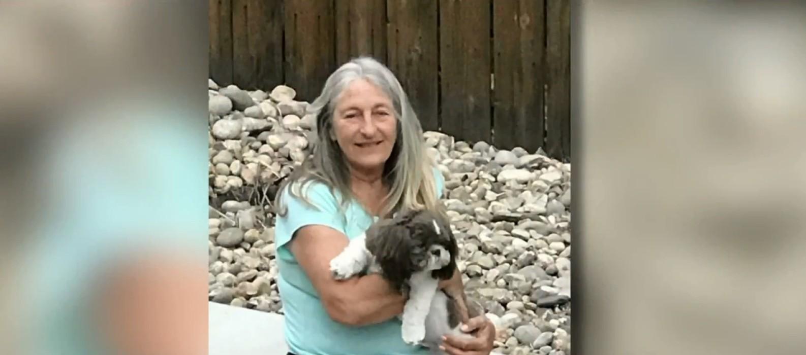 Sharon Larson faleceu após bactéria entrar em seu organismo pela mordida do cão (Foto: Reprodução/WTMJ-TV)