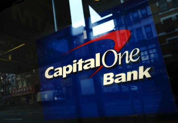 Fachada de unidade do banco Capital One, em Nova York (Foto: Drew Angerer/Getty Images)