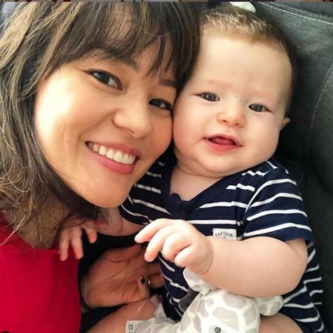 Geovanna Tominaga e o filho, Gabriel (Foto: Reprodução/ Instagram)