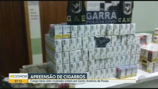 Operação policial recupera carga roubada de cigarros, apreende armas detém suspeitos na região de Campinas