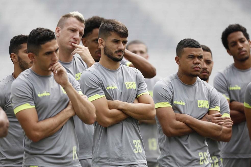 Jogadores do Vasco em treino deste sábado — Foto: Rafael Ribeiro / Vasco