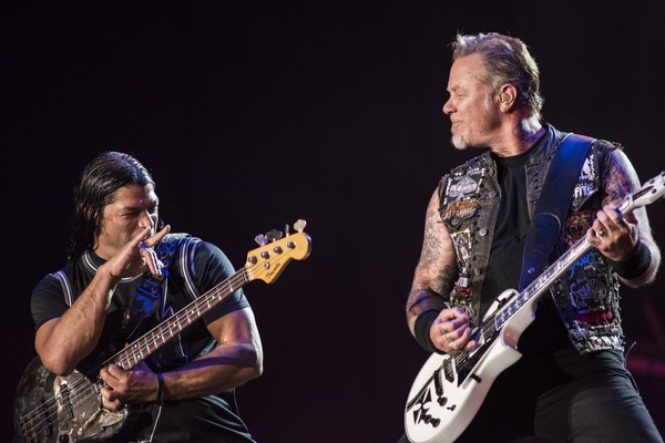 Robert Trujillo e James Hetfield do Metallica (Foto: Getty Images)