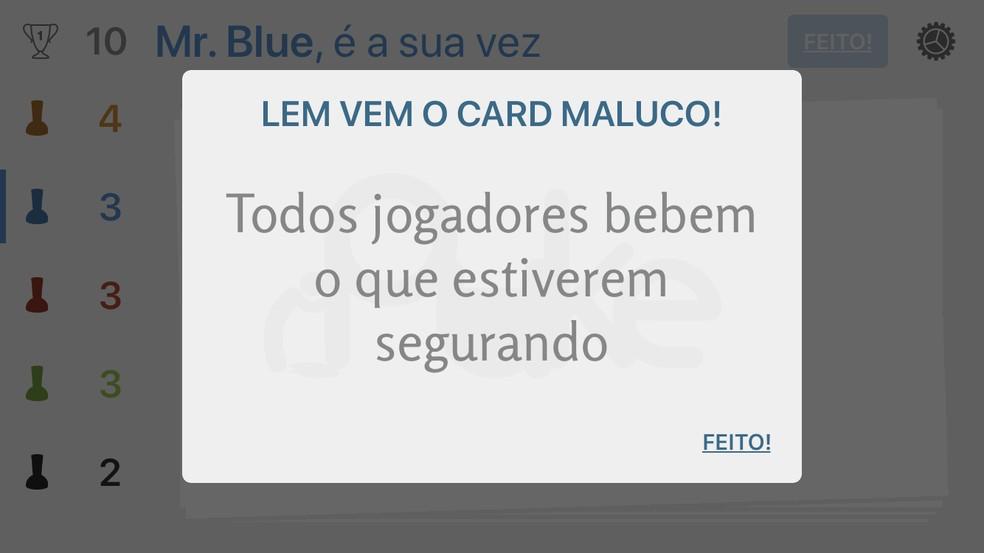 Card maluco do iPuke pode surgir a qualquer momento com desafio extra — Foto: Reprodução/Rodrigo Fernandes