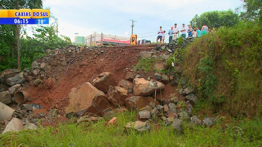 Temporal provoca alagamentos no Norte do Rio Grande do Sul