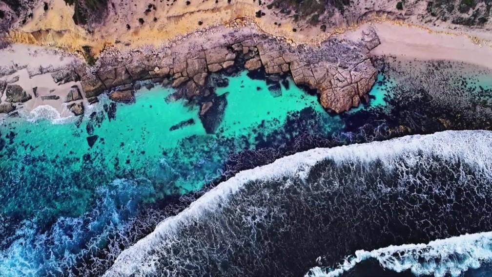 Foto mostra a costa da Austrália — Foto: Dene Bingham/BBC