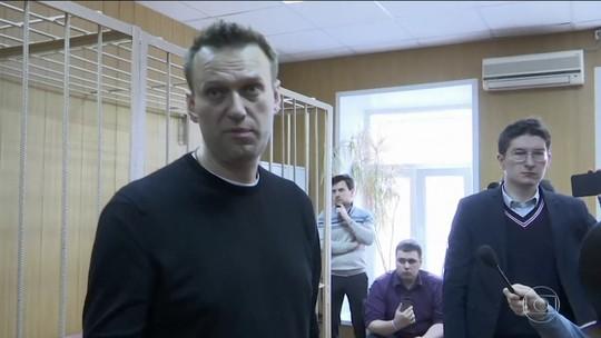 Blogueiro é preso após protesto contra corrupção em Moscou