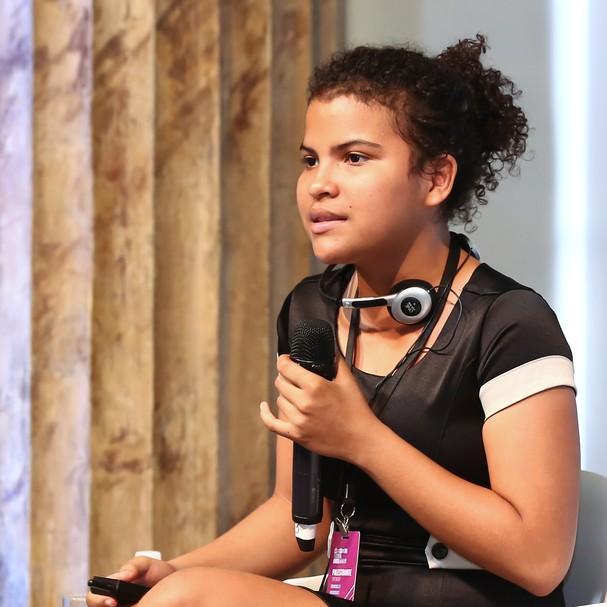 Francielly no Wired Festival, no Rio de Janeiro (Foto: GQ/Roberto Filho)