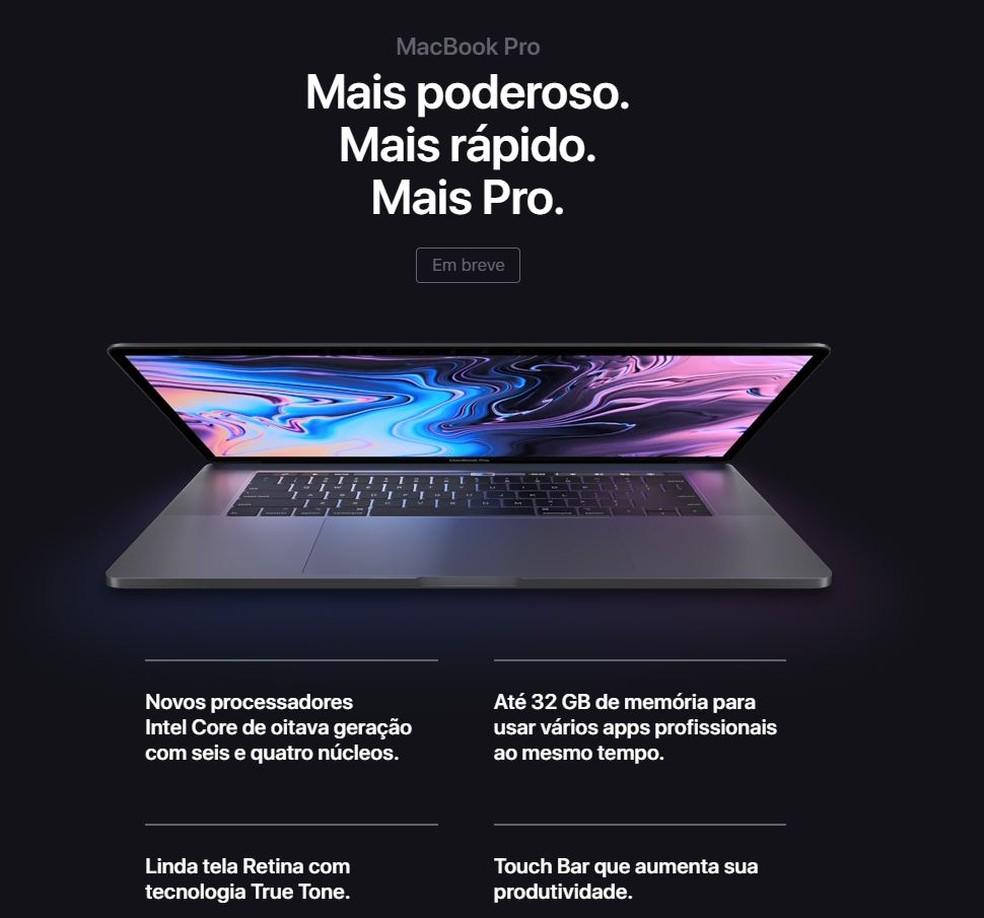 Apple revelou nesta quinta-feira novos recursos para o MacBook Pro (Foto: Reprodução)