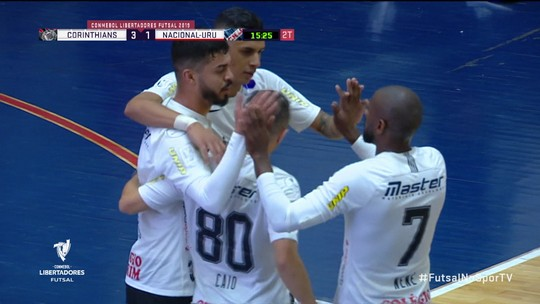 Corinthians bate o Nacional-URU e está nas quartas de final da Libertadores de Futsal